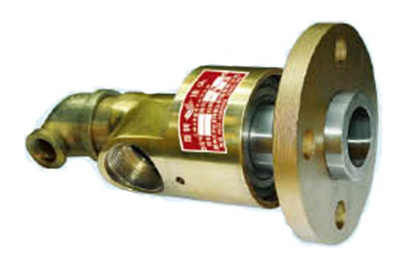 Flange connection water swivel